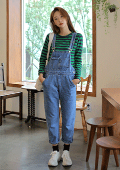 All Night Long Denim Overall