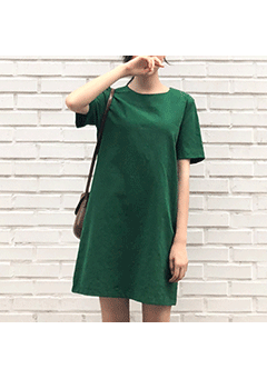 Color Block T-Shirt Dress