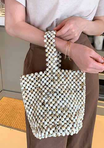 Unique Marbled Beads Bag
