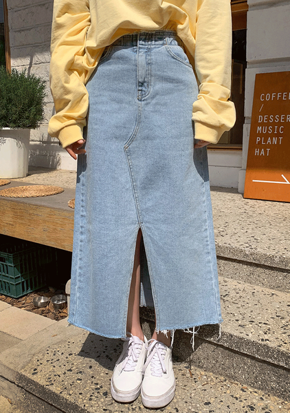 Seoul Coffee Places Denim Skirt