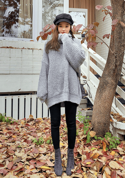 Long Turtleneck Softest Loose Fit Knit