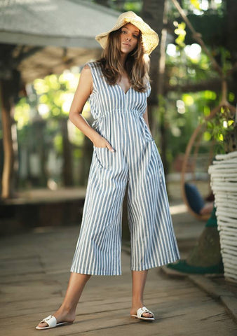 Stripe Summer Jumpsuit