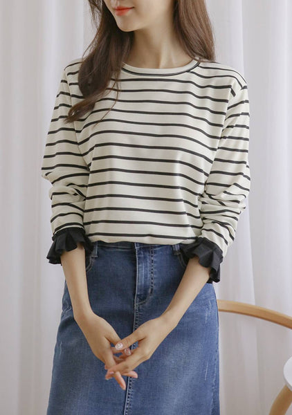 Beauty And Melancholy Between Stripes Top
