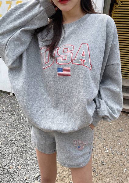 USA I Missed You Loose Sweatshirt