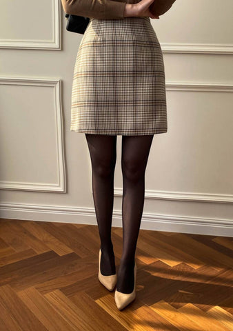 Walking On A Dream Check Mini Skirt