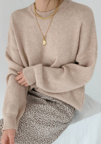 Able To Give Love Cashmere Knit Sweater