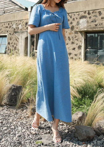 Recovery Ribbon Linen Long Dress