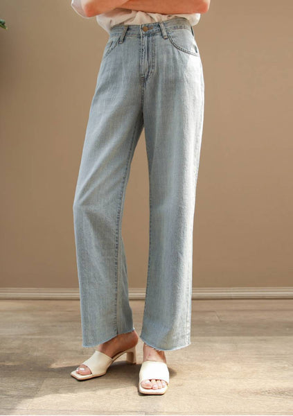 Summer Garden Denim Semi Wide-Fit Jeans
