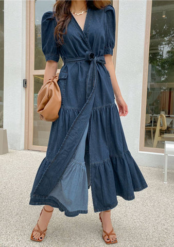 Recoleta Open Denim Dress