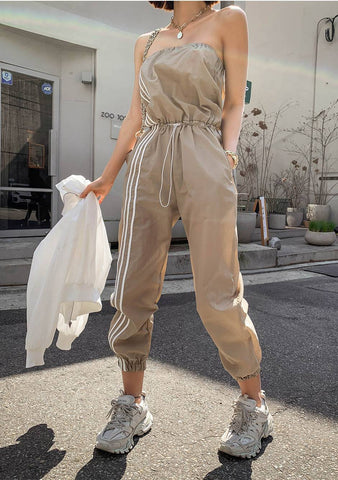 My Clarity Stripes Side Jumpsuit