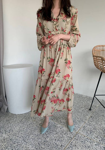 The Flower Journey Long Dress