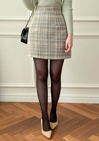 I Will Always Miss Her Tweed Mini Skirt