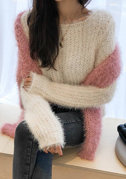 Different Pieces Furry Knit Sweater