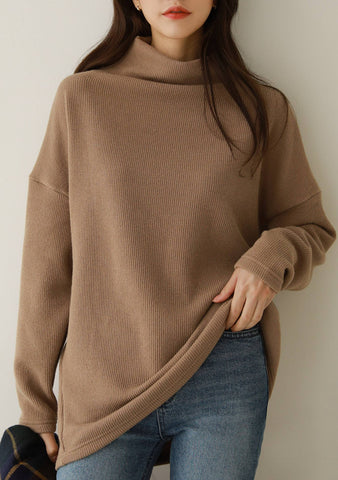 Who And What Turtleneck Long Knit Top
