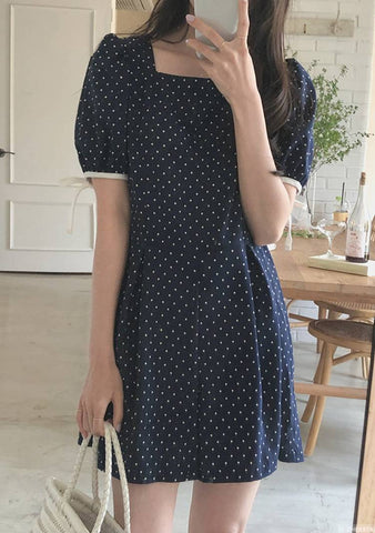 Blue Flame Dots Jumpsuit