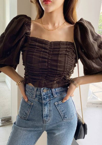 Transform The World Shirring Puff Blouse