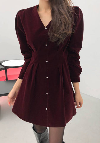 Business Venture Button Dress