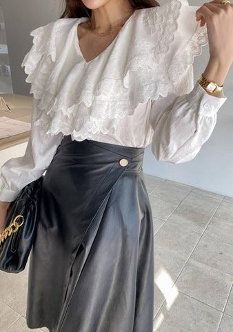 Like Is What You Make It Ruffle Blouse