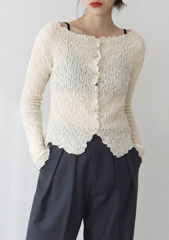 What Song Lace Cardigan [Ivory]