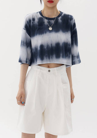 Tie and Dye Crop T-Shirt