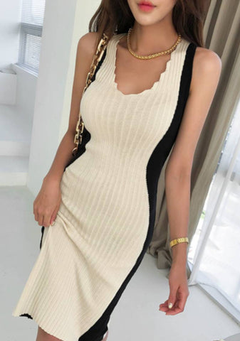 No Worries Ribbed Knit Sleeveless Dress