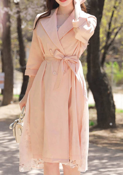 Pink Smoothie Trench Coat