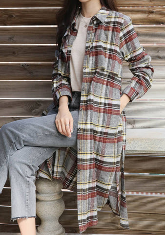 Buckle Down Plaid Long Shirt