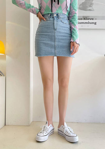 New World Denim Skirt