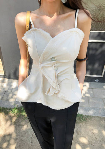 A Strong Woman Twist Sleeveless Blouse