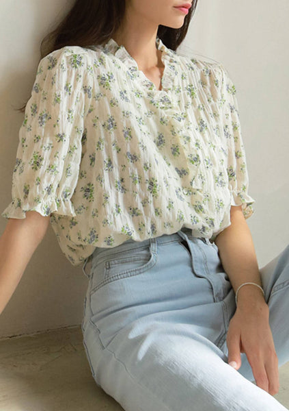 I Think I Know You Flowers Blouse