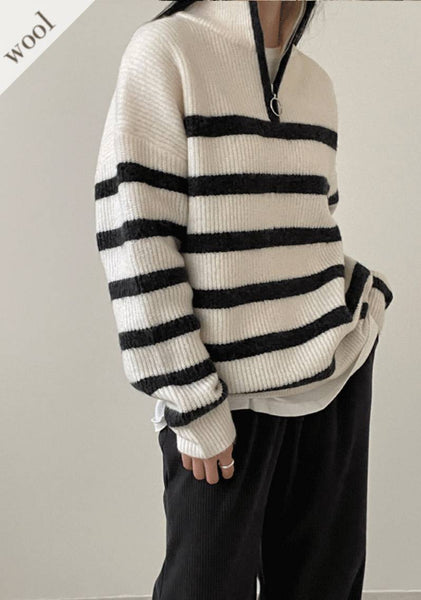 Because I Want You Stripe Knit Top