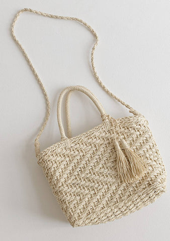 It Has Been A While Straw Bag