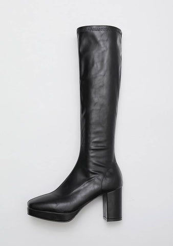 Coldstone Leather Knee-High Boots 7.5cm