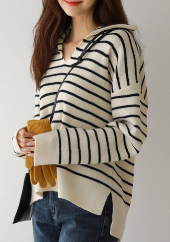 On The Surface Stripes Knit Top