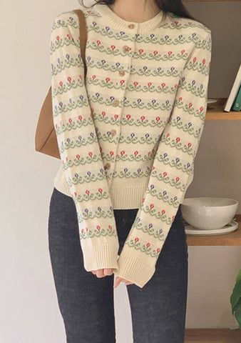Field Of Spring Flowers Cardigan
