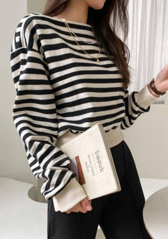 Lock On The Bright Side Stripes Top