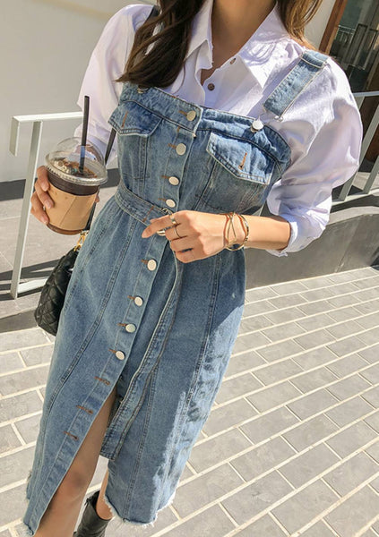 Quiet Moment Denim Overall Dress