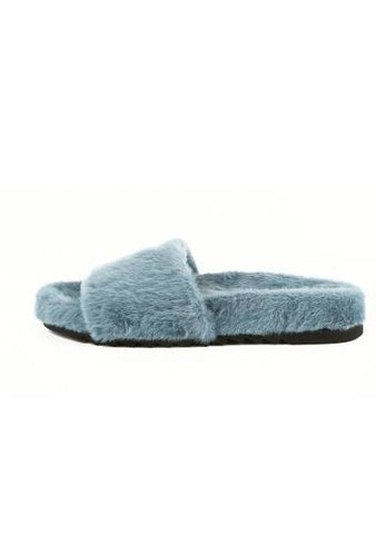 Different But Best Friend Fur Slippers