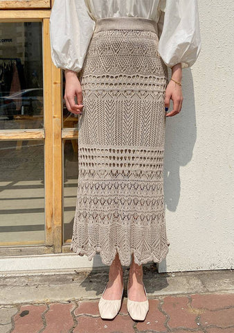 Wanting To Go Back Lace Knit Skirt