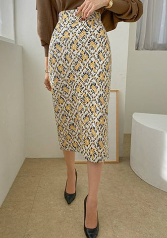 Taste For The Lemons Midi Skirt