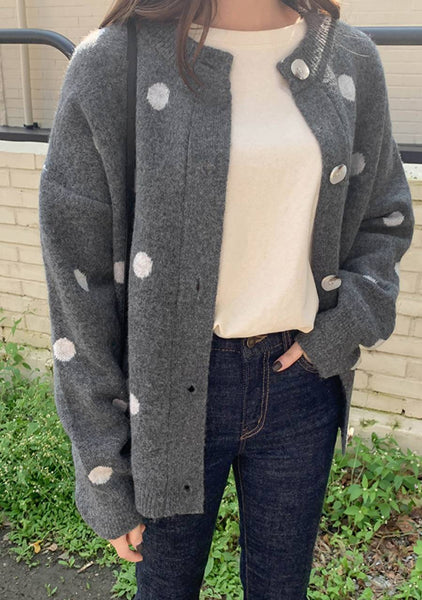 Every Ounce Dots Knit Cardigan