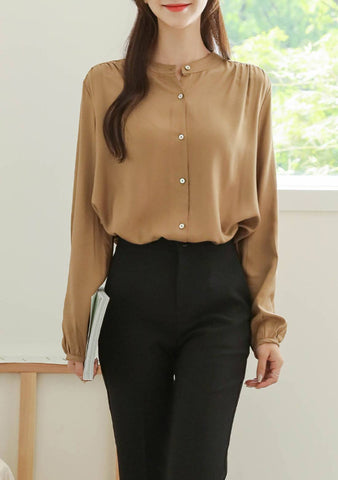 Hit The Street Button Blouse
