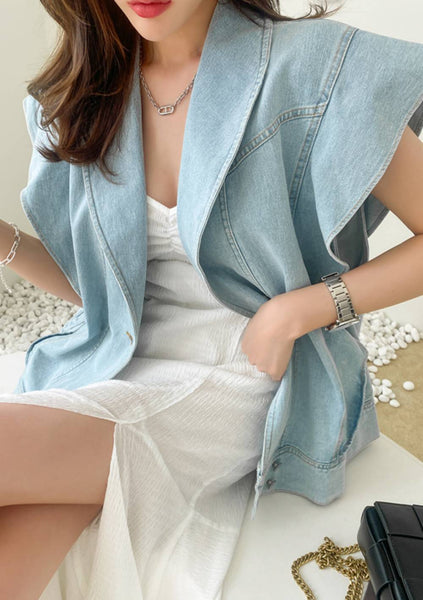 The Law Of Our Attraction Denim Vest