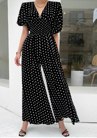 I Chase Goals Dots Tie Back Dress