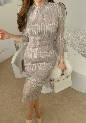 City Love Lace Long Dress