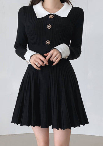 Creative License Knit Ribbed Dress