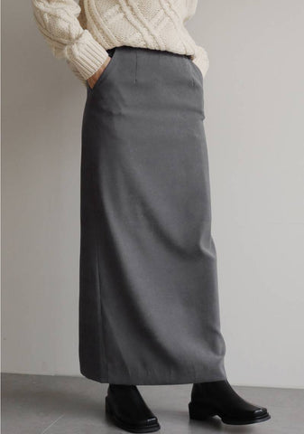 Blush Long Skirt [Grey]