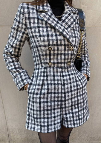 Hold Of Me Tweed Jumpsuit