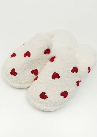 So Much Love Heart Slippers
