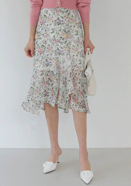 Absolutely Everything Flower Midi Skirt